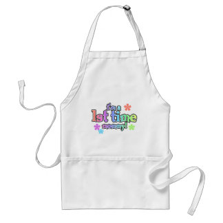 1st Time Mommy-Rainbow T-shirts and Gifts Adult Apron