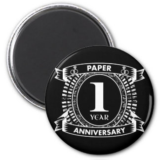 1ST wedding anniversary distressed crest Magnet