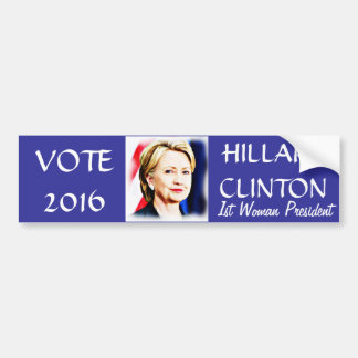 1st Woman President Hillary Clinton 2016_ Bumper Sticker