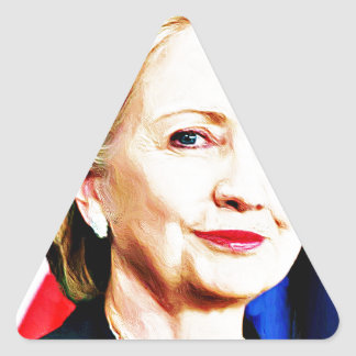 1st Woman President Hillary Clinton 2016_ Triangle Sticker