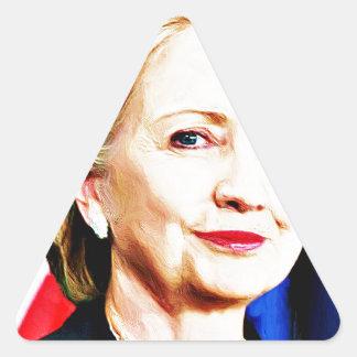 1st Woman President Hillary Clinton 2016_ Triangle Sticker