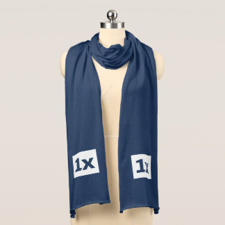 "1x ""Ceremonial"" scarf, blue Scarf"