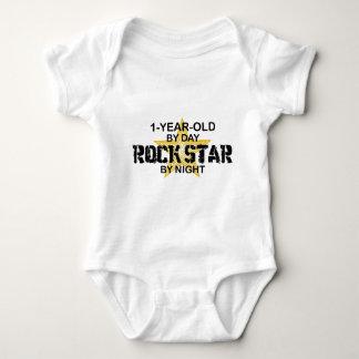 1Year Old Rock Star by Night Baby Bodysuit