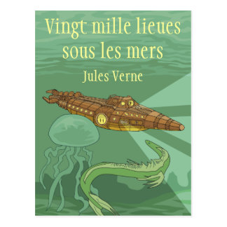 20000 miles under the seas - Jules Verne Postcard