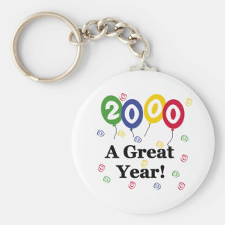 2000 A Great Year Birthday Basic Round Button Key Ring