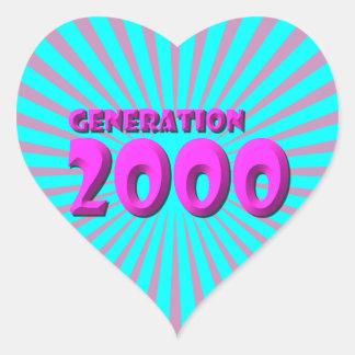 2000 HEART STICKER