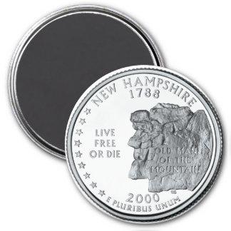 2000 New Hampshire State Quarter magnet