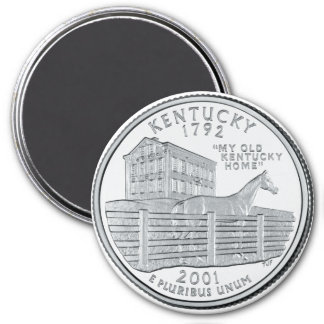 2001 Kentucky State Quarter magnet