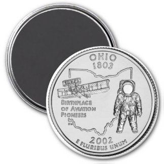 2002 Ohio State Quarter magnet