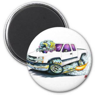 2003-06 Silverado White Truck 6 Cm Round Magnet
