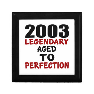 2003 LEGENDARY AGED TO PERFECTION SMALL SQUARE GIFT BOX