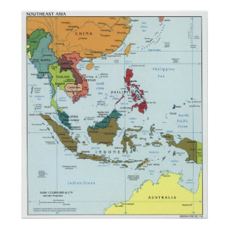 2003 Southeast Asia Map Poster