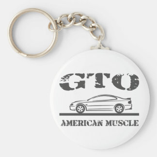 2004-06 GTO American Muscle Car Basic Round Button Key Ring