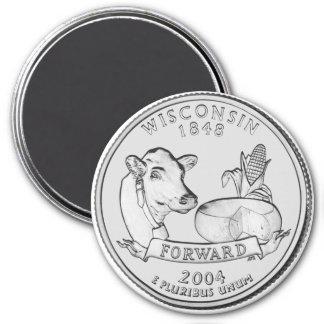 2004 Wisconsin State Quarter magnet