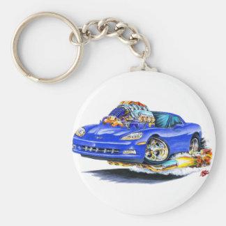 2005-10 Corvette Blue Car Key Ring
