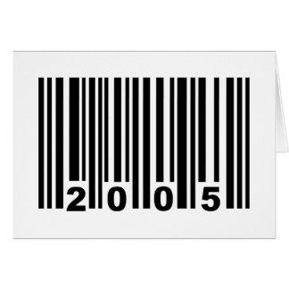 2005 barcode card