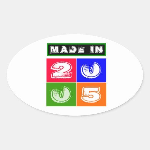 2005 Birthday Designs Stickers