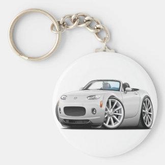2006-08 Miata White Car Key Ring