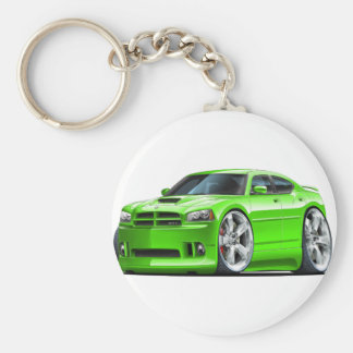 2006-10 Charger SRT8 Green Car Basic Round Button Key Ring