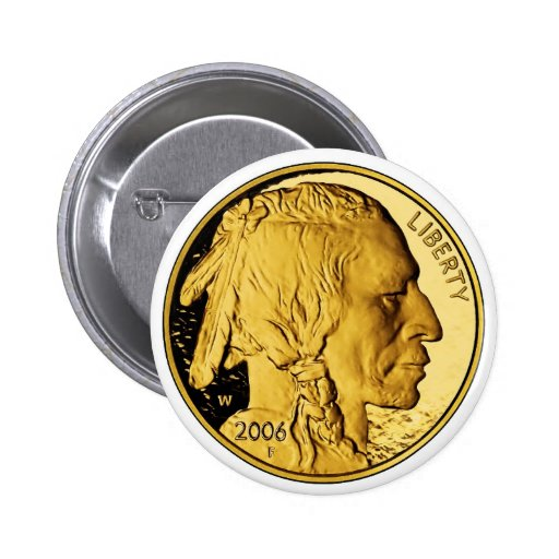 2006 American Buffalo Proof Gold Bullion Coin Pinback Button