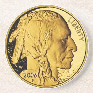 2006 American Buffalo Proof Gold Bullion Coin Drink Coasters