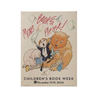 2006 Children's Book Week Wood Poster