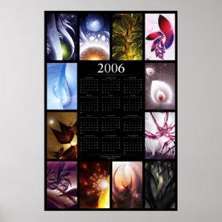 2006 Fractal Calendar Poster