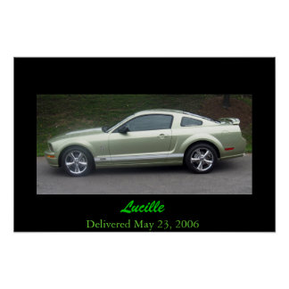 2006 Legend Lime Mustang GTA Poster