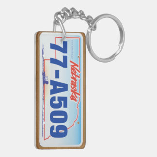 2006 Nebraska License Plate Keychain #2