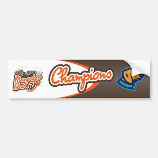 2007 Maneater Bowl Champions Bumper Sticker