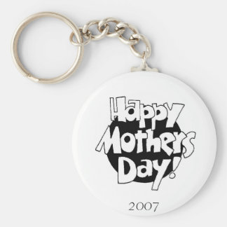 2007 Mothers DAy Basic Round Button Key Ring