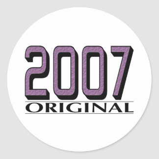 2007 Original Classic Round Sticker