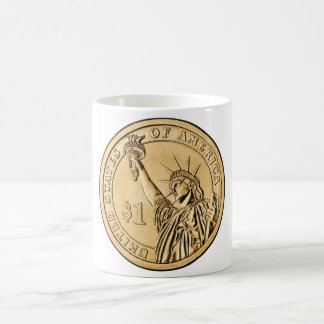 2007 Presidential One Dollar Coin from U.S. Mint Coffee Mug