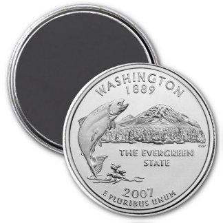 2007 Washington State Quarter 7.5 Cm Round Magnet