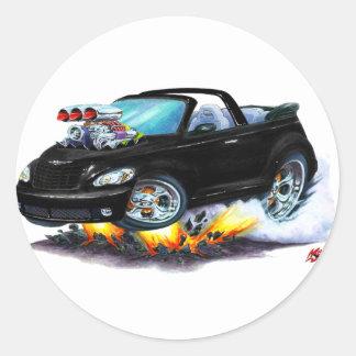 2008-10 PT Cruiser Black Convertible Classic Round Sticker