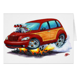 2008-10 PT Cruiser Maroon Woodie Card