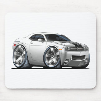 2008-2010 Challenger White Car Mouse Pad