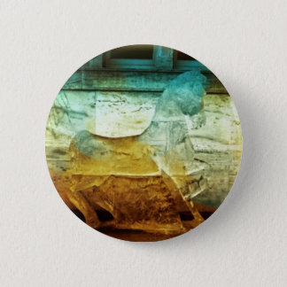 2008 Amber/Turquoise 3 Horse Round Button