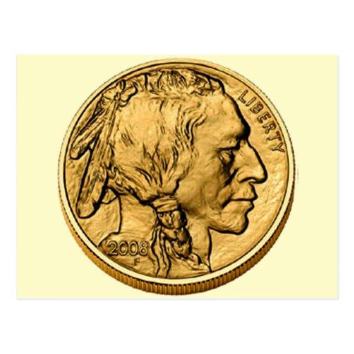 2008 American Buffalo Gold Bulion Coin Post Card