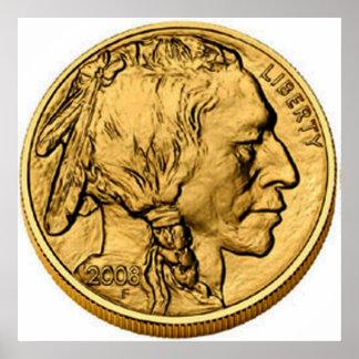 2008 American Buffalo Gold Bullion Coin Poster