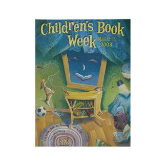 2008 Children's Book Week Wood Poster