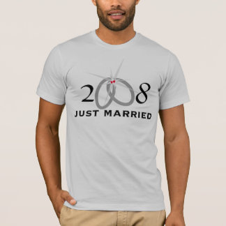 """2008 Just Married"" T-Shirt"
