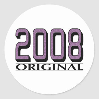 2008 Original Classic Round Sticker