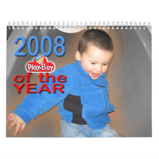 2008 Play-Boy of The Year Wall Calendar