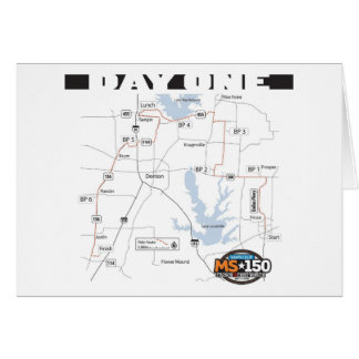 2008 Sam's Club MS150 Route Greeting Card