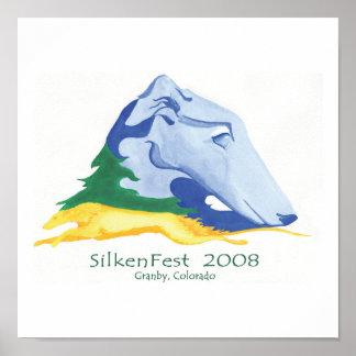 2008 Silkenfest logo Kim Tucker poster/print Poster