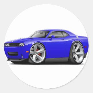 2009-11 Challenger RT Blue Car Classic Round Sticker