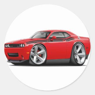2009-11 Challenger RT Red-Black Car Classic Round Sticker