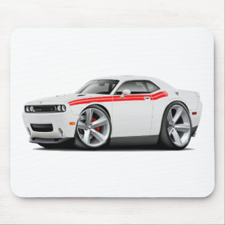 2009-11 Challenger RT White-Red Car Mouse Pad