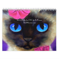 2009 Calendar Cats & Flowers Paint... - Customised